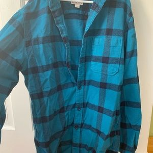 Merona Blue Plaid Flannel